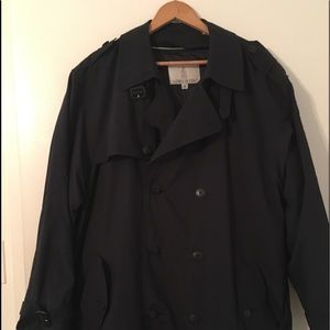 MENS LONDON FOG RAINCOAT ZIP OUT LINING